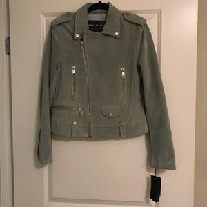 Bagatelle NYC suede leather Moto jacket mint NWT